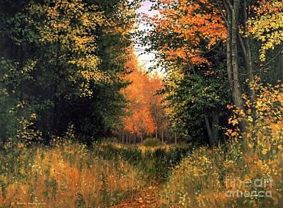 Michael Swanson Painting - My Secret Autumn Place by Michael Swanson