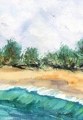My Secret Beach Art Print by Marionette Taboniar