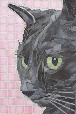 Wall Art - Glass Art - My Shadow by Linda Pieroth Smith