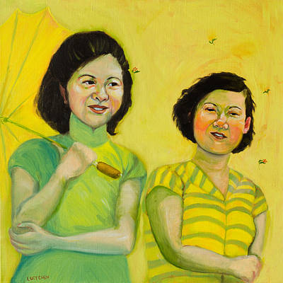 Painting - My Sister And I by Lucy Chen