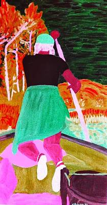 Painting - My Sister At The Cabin - Digitally Altered by Natalee Parochka
