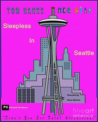 Digital Art - My Sleepless In Seattle Movie Poster by Liane Wright