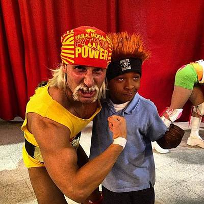 Wrestling Photograph - My Son And The #hulkster!! #wwe by Jim Jones