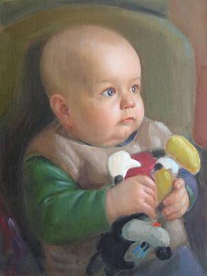 Art Print featuring the painting My Son by Svitozar Nenyuk