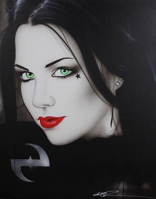 Black Hair Painting - Evanescence - ' My Soul Cries For Deliverance ' by Christian Chapman