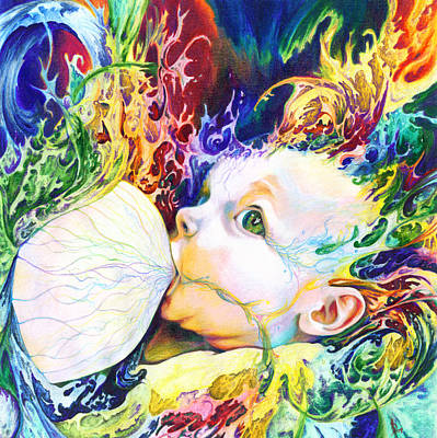 Breastfeeding Mixed Media - My Soul by Kd Neeley