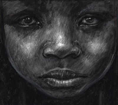 Charcoal Mixed Media - My Soul Runs Like The River by Tyrone Geter