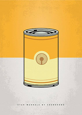 Cans Digital Art - My Star Warhols 3cpo Minimal Can Poster by Chungkong Art