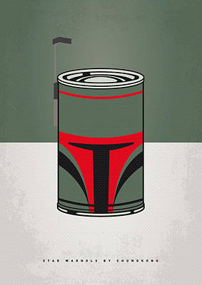 Vegetables Digital Art - My Star Warhols Boba Fett Minimal Can Poster by Chungkong Art