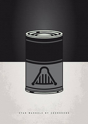 Vegetables Digital Art - My Star Warhols Darth Vader Minimal Can Poster by Chungkong Art