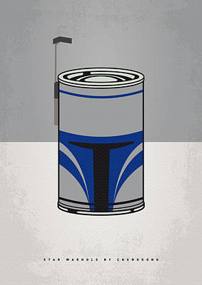 Digital Art - My Star Warhols Jango Fett Minimal Can Poster by Chungkong Art