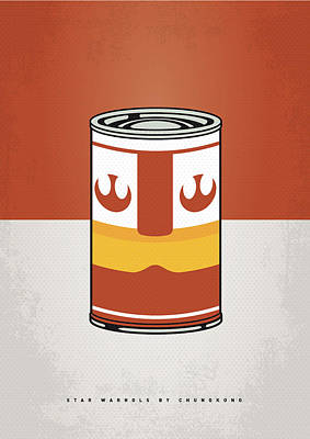Digital Art - My Star Warhols Luke Skywalker Minimal Can Poster by Chungkong Art