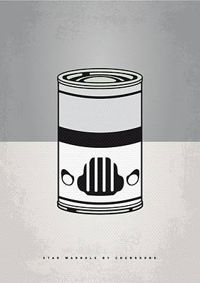 Cans Digital Art - My Star Warhols Stormtrooper Minimal Can Poster by Chungkong Art