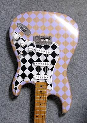Fender Strat Painting - My Strat by John Houseman