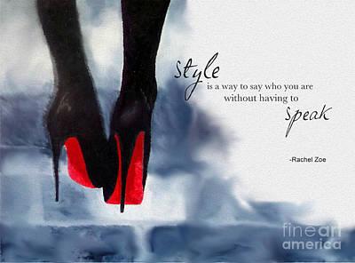 Shoe Mixed Media - My Style by Rebecca Jenkins