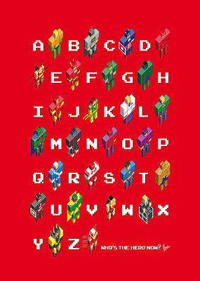 Book Jacket Digital Art - My Super Abc Minimal Poster by Chungkong Art