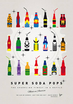 Minimalism Digital Art - My Super Soda Pops No-00 by Chungkong Art