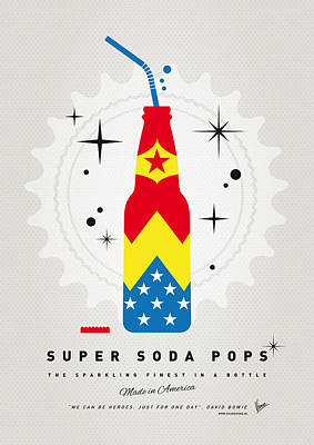 Wonder Woman Digital Art - My Super Soda Pops No-04 by Chungkong Art