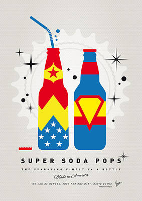 Wonder Woman Digital Art - My Super Soda Pops No-06 by Chungkong Art