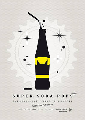Soda Digital Art - My Super Soda Pops No-07 by Chungkong Art