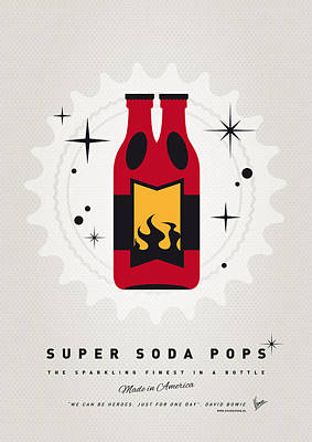 Soda Digital Art - My Super Soda Pops No-08 by Chungkong Art