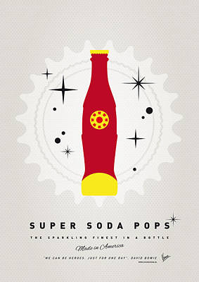 Soda Digital Art - My Super Soda Pops No-09 by Chungkong Art
