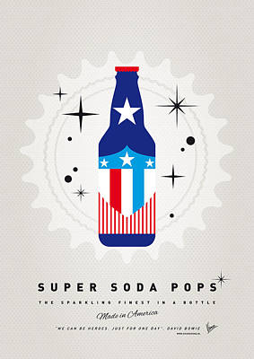 Soda Digital Art - My Super Soda Pops No-14 by Chungkong Art