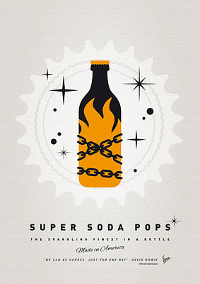 Soda Digital Art - My Super Soda Pops No-16 by Chungkong Art