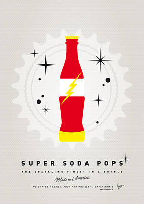 Soda Digital Art - My Super Soda Pops No-18 by Chungkong Art