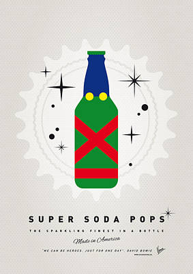 Soda Digital Art - My Super Soda Pops No-21 by Chungkong Art