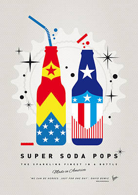 Wonder Woman Digital Art - My Super Soda Pops No-24 by Chungkong Art