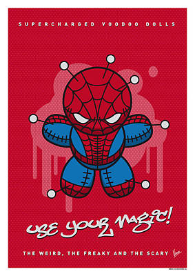 Super Hero Digital Art - My Supercharged Voodoo Dolls Spiderman by Chungkong Art