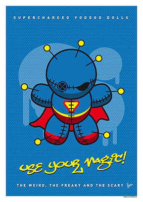 My Supercharged Voodoo Dolls Superman Art Print by Chungkong Art