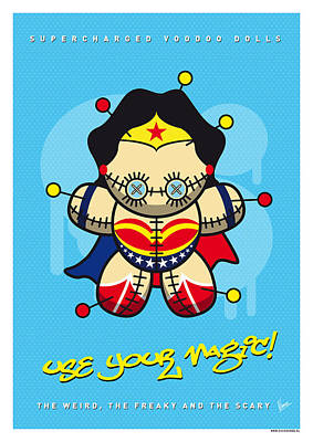 Wonder Woman Digital Art - My Supercharged Voodoo Dolls Wonder Woman by Chungkong Art