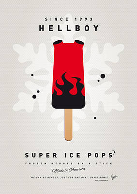 Super Hero Digital Art - My Superhero Ice Pop - Hellboy by Chungkong Art