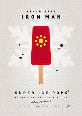 Icecream Digital Art - My Superhero Ice Pop - Iron Man by Chungkong Art