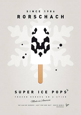 Icecream Digital Art - My Superhero Ice Pop - Rorschach by Chungkong Art