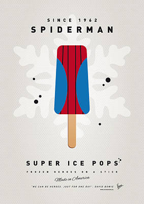 Retro Digital Art - My Superhero Ice Pop - Spiderman by Chungkong Art