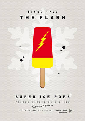 Icecream Digital Art - My Superhero Ice Pop - The Flash by Chungkong Art