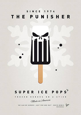 Super Hero Digital Art - My Superhero Ice Pop - The Punisher by Chungkong Art