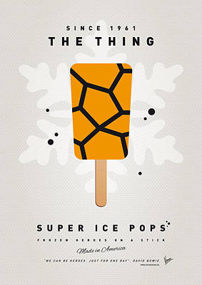 Icecream Digital Art - My Superhero Ice Pop - The Thing by Chungkong Art