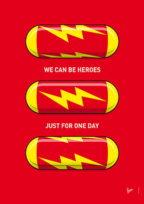 My Superhero Pills - The Flash Art Print by Chungkong Art