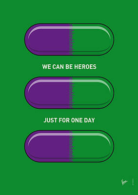 Super Hero Digital Art - My Superhero Pills - The Hulk by Chungkong Art