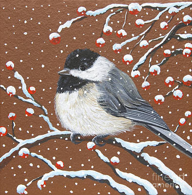 Painting - My Sweet Chickadee by Jennifer Lake