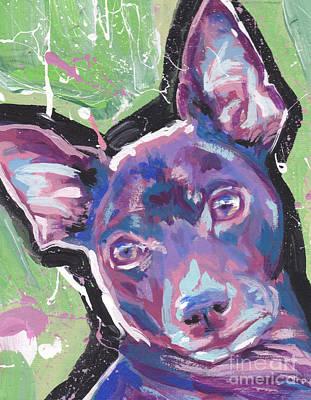 Rat Terrier Painting - My Sweet Rat by Lea S