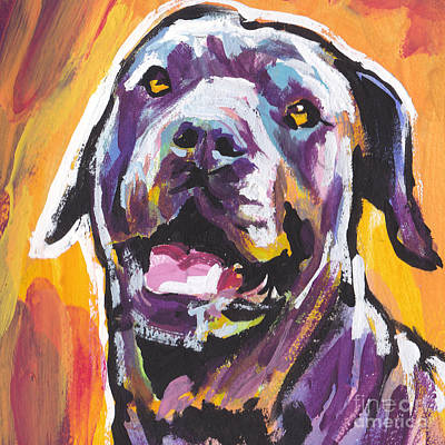 Dog Pop Art Painting - My Sweet Sugar Cane by Lea S