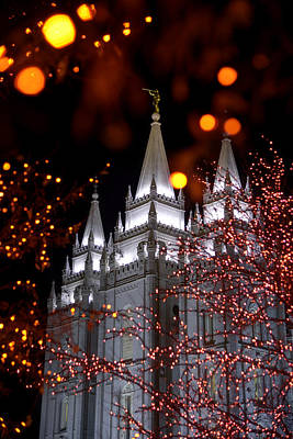 Utah Temple Photograph - My Take by Chad Dutson