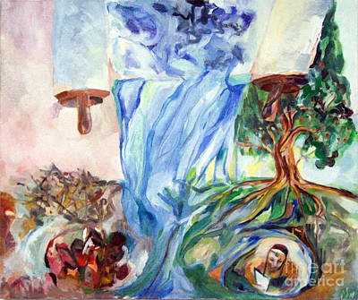 Inner Self Painting - My Teaching Shall Drip As Rain by David Baruch Wolk