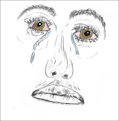 Digital Art - My Tears by Brent Dolliver