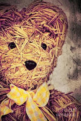 Teddy Bears Mixed Media - My Teddy Bear by Angela Doelling AD DESIGN Photo and PhotoArt